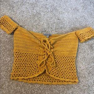 Charlotte Russe crochet top